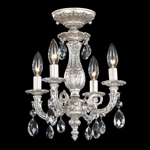 "Schonbek Milano 11.5"" 4 Light Chandelier"