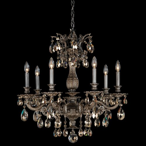 Schonbek Milano 7 Light Chandelier