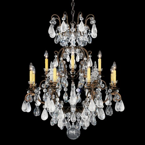 Schonbek Renaissance Rock Crystal 12 Light Chandelier