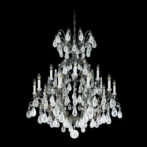 Versailles Rock Crystal 15 Light Chandelier