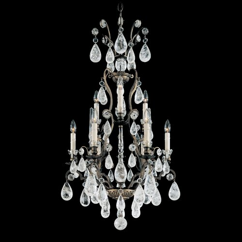 Schonbek Versailles Rock Crystal 9 Light Chandelier