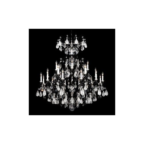 Renaissance Rock Crystal 24 Light Chandelier