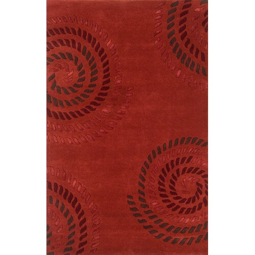 Edge Light Red Rug