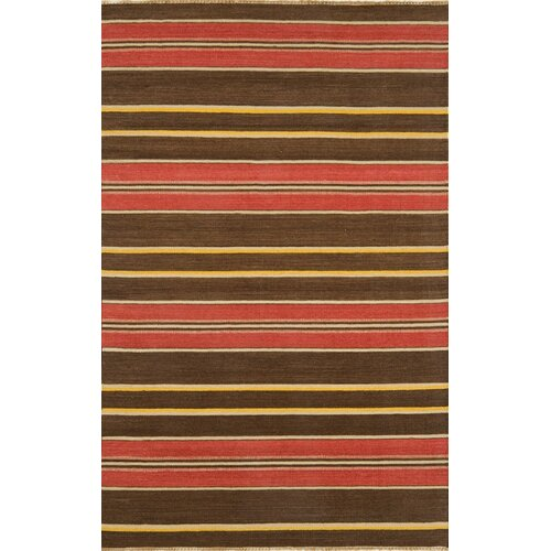 Continental Rug Company City Stripes Brown Rug
