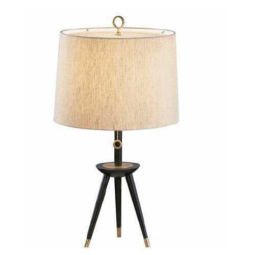 "Jonathan Adler Ventana Tripod 26"" H Table Lamp with Empire Shade"