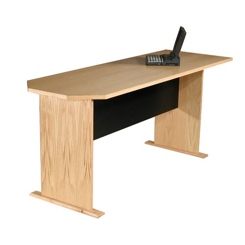 "Rush Furniture Modular Real Oak Wood Veneer 29.5 H x 71.25"" W Panel Desk Return"