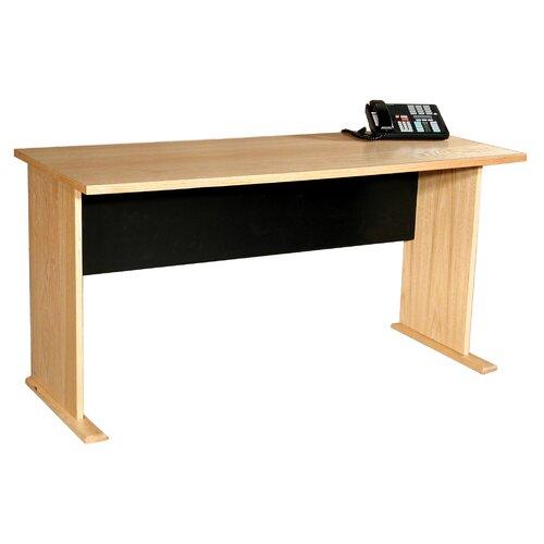 """Rush Furniture Modular Real Oak Wood Veneer 60"""" W Panel Office Desk"""