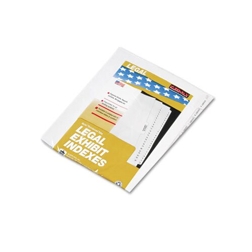 "Kleer-Fax, Inc. 80000 Series Side Tab Legal Index Divider Set, Printed ""Exhibit 1""- ""Exhibit 20"""