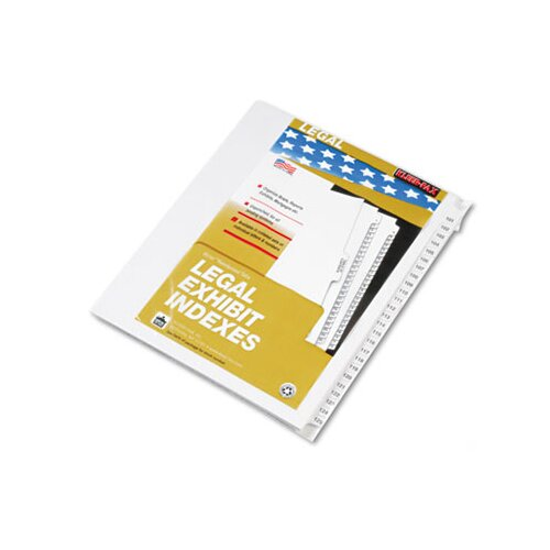 "Kleer-Fax, Inc. 80000 Series Legal Index Divider Set, Side Tabs, Printed ""101""-""125"""