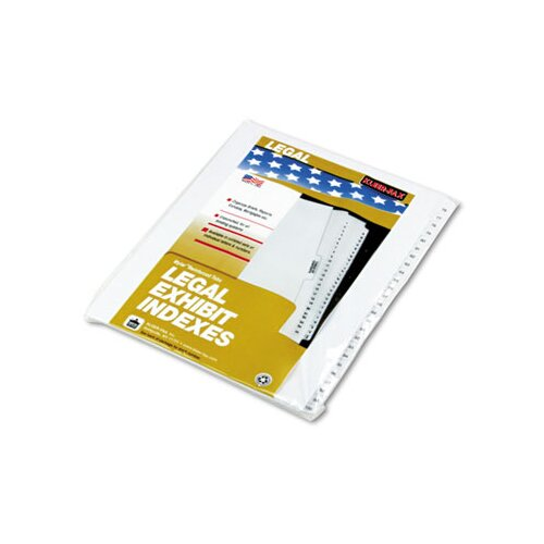 "Kleer-Fax, Inc. 90000 Series Legal Exhibit Index Dividers, 1/25 Side Cut, Label ""1""-""25"""
