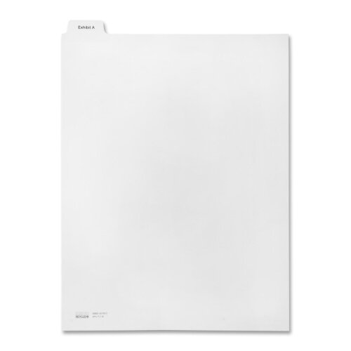 Kleer-Fax, Inc. Legal Divider,Exhibit A,Letter,Bottom Tab,1/6 Cut,White