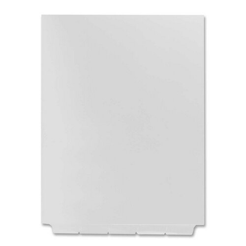 Kleer-Fax, Inc. Index Dividers, Blank Bottom Tabs, 1/5 Cut, Letter, 25/ST, White