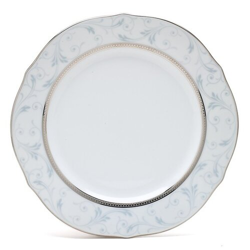 "Noritake Regina Platinum 9"" Scalloped Accent Plate"