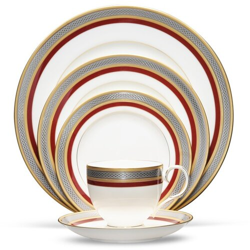 Noritake Ruby Coronet 5 Piece Place Setting
