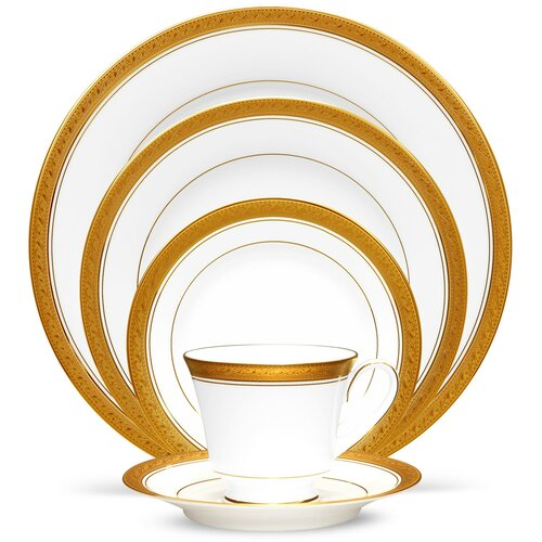 Crestwood Gold 5 Piece Place Setting