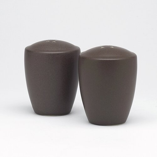 "Noritake Colorwave Chocolate 3.375"" Salt & Pepper Set"
