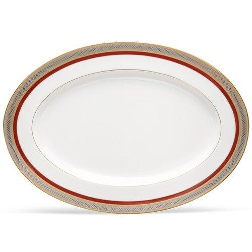 Noritake Ruby Coronet Oval Platter