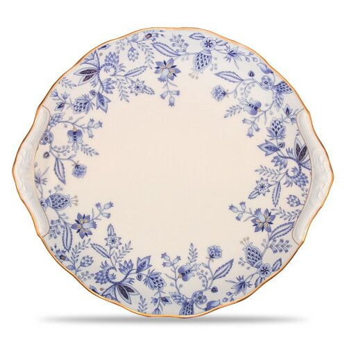 "Noritake Blue Sorrentino 11"" Party Plate"