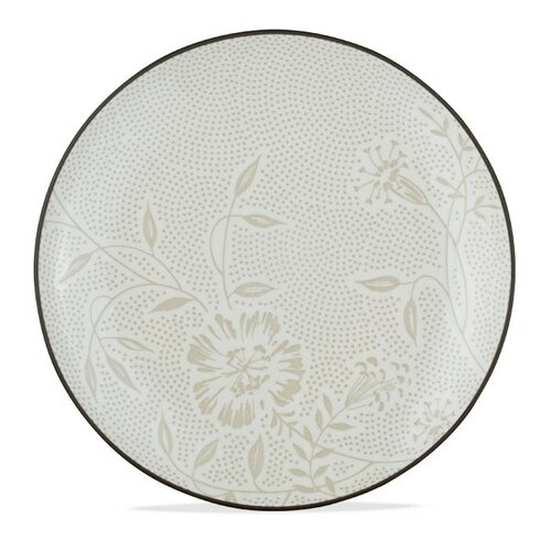 Noritake Colorwave Graphite Bloom Coup Salad Plate