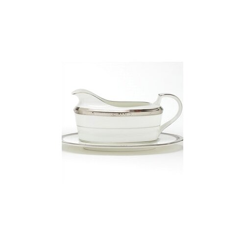 Noritake Chatelaine Platinum 16 oz. Gravy Dish With Tray