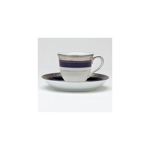 Noritake Crestwood Cobalt Platinum 3 oz. After Dinner Cup and Saucer