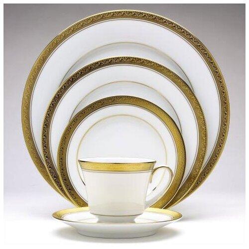 Noritake Crestwood Gold 50 Piece Dinnerware Set Amp Reviews