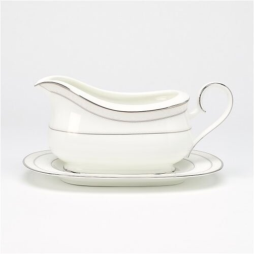 Noritake Montvale Platinum 21.5 oz. Gravy Dish with Tray