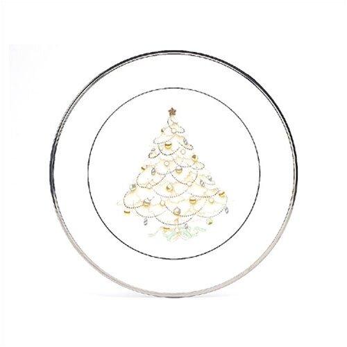 Noritake Palace Christmas Platinum Holiday Accent Plate