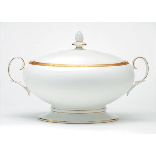 Noritake Rochelle Gold 64 oz. Vegetable Dish with Lid