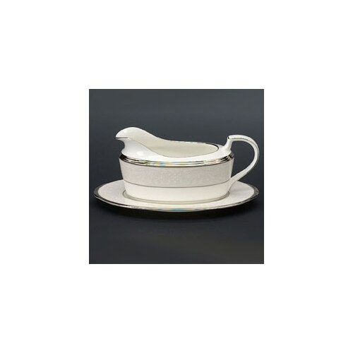 Noritake Silver Palace 16 oz. Gravy Dish with Tray
