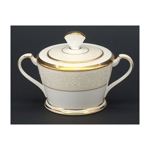 Noritake White Palace 11.5 oz. Sugar Bowl with Cover