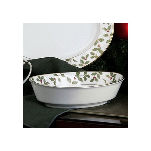 Noritake Holly and Berry Gold Salad Bowl