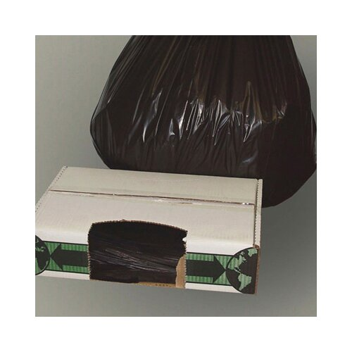 "Essex® 40"" x 48"" Linear Low-Density Ecosac with 1.5 Mil in Black"