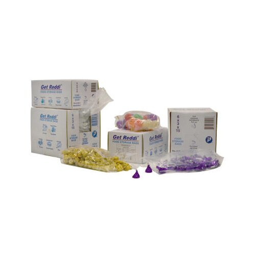 Inteplast Group 8 Quart Get Reddi Food and Poly Bag, 0.85 Mil in Clear