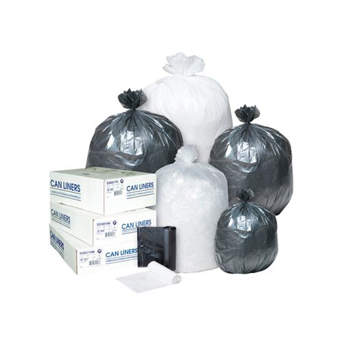 Inteplast Group 45 Gallon High Density Can Liner, 14 Micron in Clear