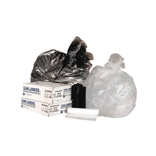 Inteplast Group 55 Gallon High Density Can Liner, 14 Micron Equivalent in Clear