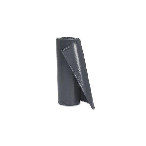 "Pitt Plastics 38"" x 58"" Linear Low Density Interleaved Can Liner in Black"