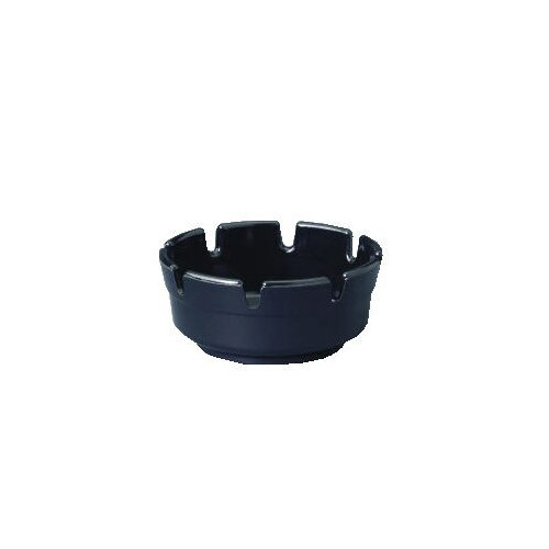Gessner™ Round Black Plastic Ashtray (Set of 72)