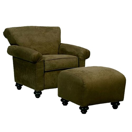 Handy Living Fenton Chair and Ottoman