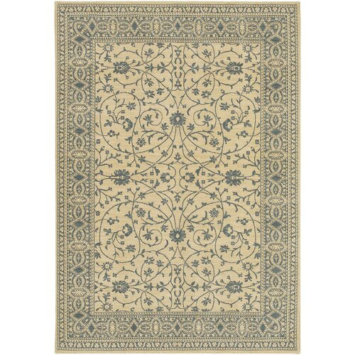 Karastan English Manor Somerset Lane Ivory/Blue Rug