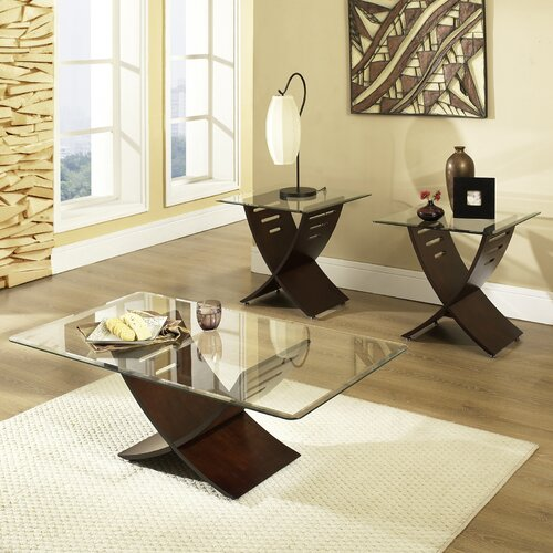 Steve Silver Furniture Cafe 3 Piece Coffee Table Set Reviews Wayfair