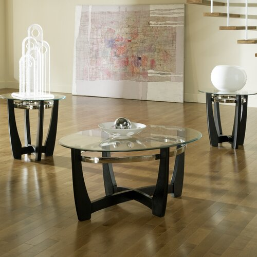 Steve Silver Furniture Matinee 3 Piece Coffee Table Set Reviews Wayfair