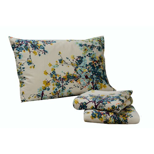 Casablanca 300 Thread Count Floral Printed Deep Pocket Sheet Set
