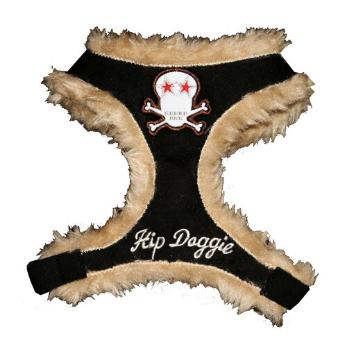 Hip Doggie Fur Skull Dog Harness Vest