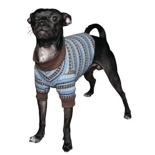 Hip Doggie Ski Dog Turtleneck in Blue