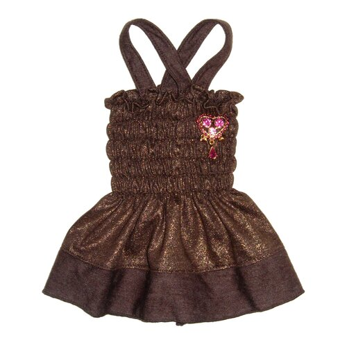 Hip Doggie Duster Dog Dress in Gold
