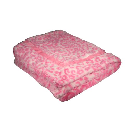 Cheetah Mink Trundle Dog Blanket in Pink