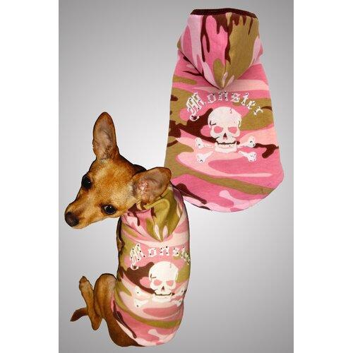 Monster Big Dog Hoodie in Pink Camo