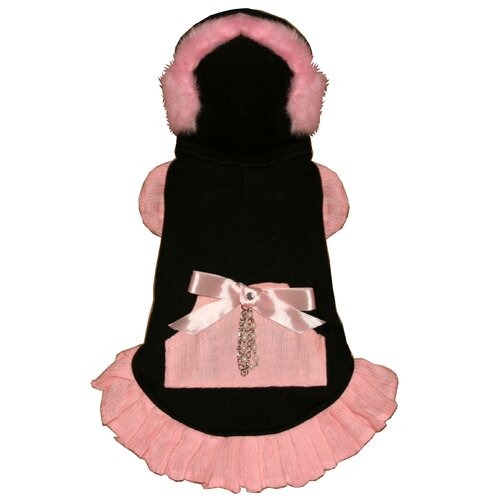 Earmuff Dog Dress in Pink