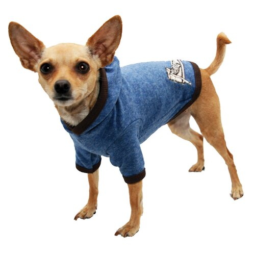 Hip Doggie Chuck T Dog Hoodie in Blue